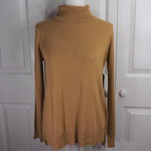 NEW Lulu's Golden Viscose Blend Knit Turtleneck S